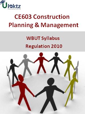 Construction Planning &Management - Syllabus