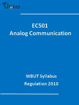Analog Communication - Syllabus