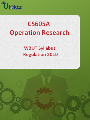 Operation Research-Syllabus