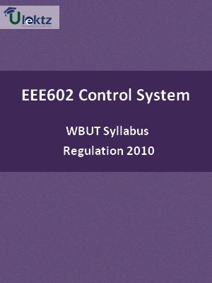 Control System - Syllabus