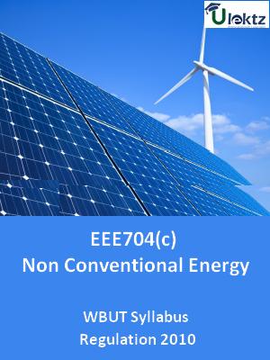 Non Conventional Energy - Syllabus