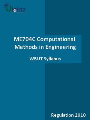 Computational Methods in Engineering - Syllabus