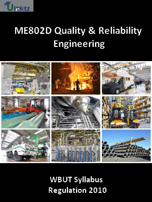Quality & Reliability Engineering - Syllabus