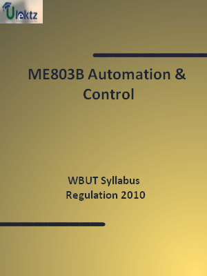 Automation and Control - Syllabus