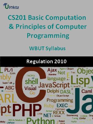 Basic Computation & Principles of Computer Programming - Syllabus