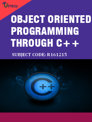 Object-Oriented Programming through C++