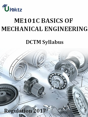 Basics Of Mechanical Engineering - Syllabus