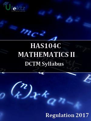 MATHEMATICS II syllabus