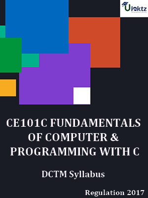 FUNDAMENTALS OF COMPUTER AND PROGRAMMING WITH C Syllabus