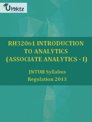 Introduction To Analytics (Associate Analytics - I) - Syllabus