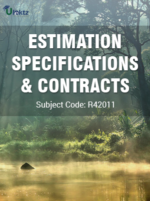 Important Questions for Estimating, Specification And Contracts