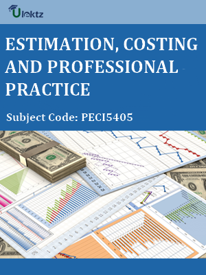 Important Questions for Estimation, Costing & Professional Practice