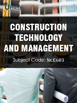 Important Question for Construction Technology & Management