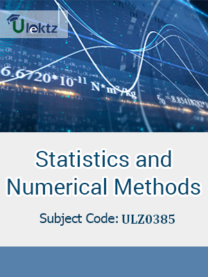 Statistics and Numerical Methods