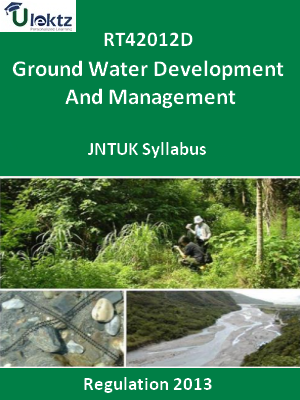 Ground Water Development And Management - Syllabus