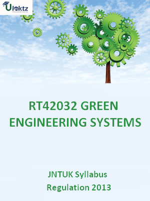 Green Engineering Systems - Syllabus