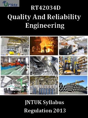 Quality And Reliability Engineering - Syllabus