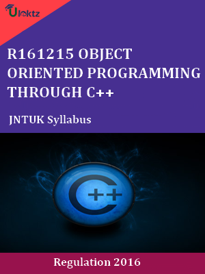 Object oriented programming through c++ - Syllabus