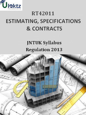 ESTIMATING, SPECIFICATIONS & CONTRACTS - Syllabus