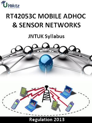 Mobile Adhoc & Sensor Networks Syllabus