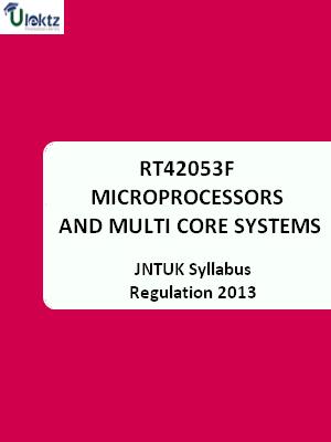 Microprocessors and Multi core systems