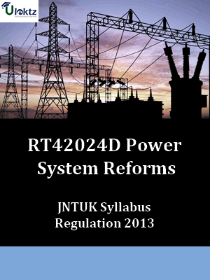 Power System Reforms Syllabus