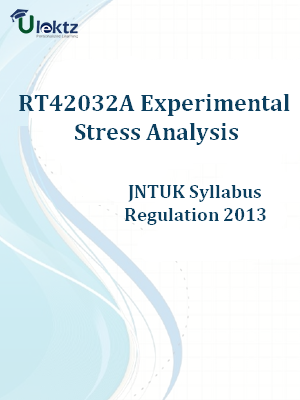 Experimental Stress Analysis Syllabus