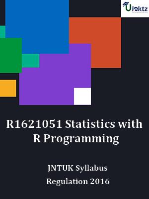 Statistics with R Programming - Syllabus