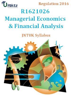 Managerial Economics & Financial Analysis - Syllabus