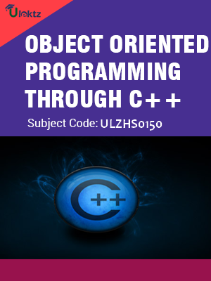 Object Oriented Programming through C++