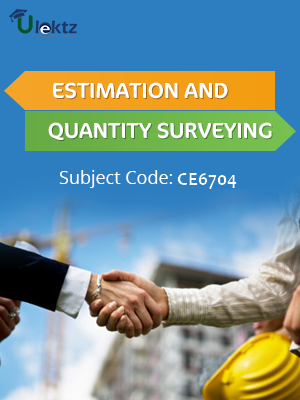Important Question for Estimation and Quantity Surveying