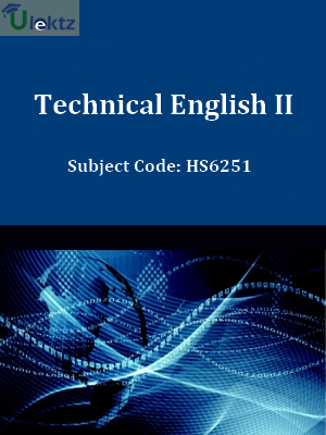 Important Question for Technical English-II