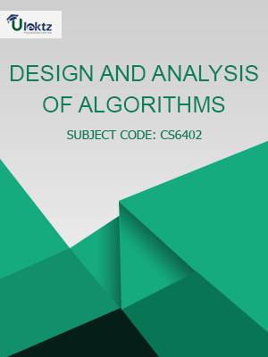 Important Questions for Design and Analysis of Algorithms