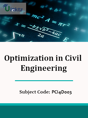 Important Questions for Optimization in Civil Engineering