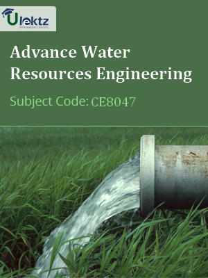 Important Questions for Advance Water Resources Engineering