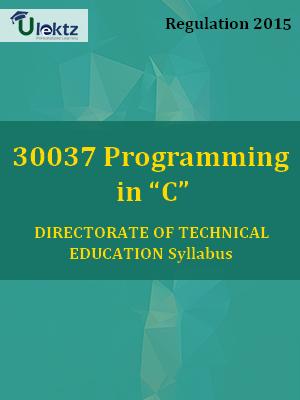 """Programming in """"C""""_Syllabus"""