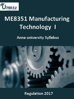 Manufacturing Technology – I_Syllabus