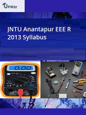 EEE Syllabus R 2013 JNTU Anantapur