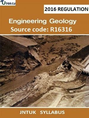 Engineering Geology Syllabus