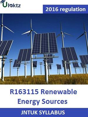 Renewable Energy Sources_syllabus