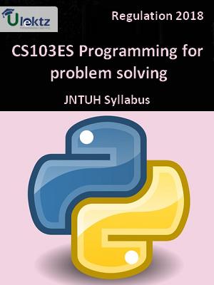 Programming for problem solving_Syllabus