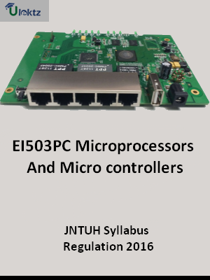 Microprocessors And Micro controllers_Syllabus