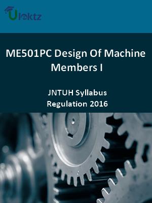 Design Of Machine Members - I_Syllabus