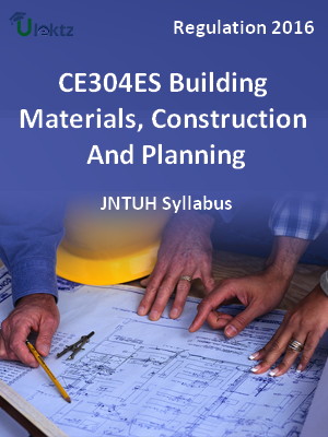Building Materials, Construction and Planning_Syllabus