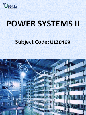 Power Systems - II