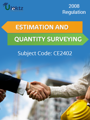 Estimation and Quantity Surveying