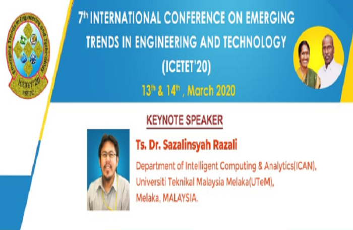 7th International Conference on Emerging Trends in Engineering and Technology