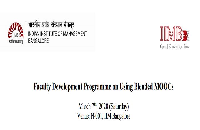 FDP on using Blended MOOCs