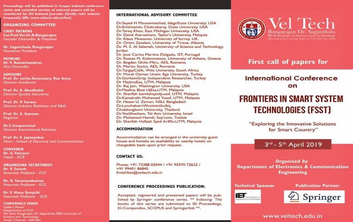 International Conference on Frontiers in Smart System Technologies
