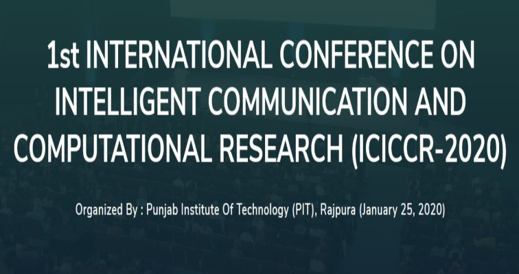 International Conference on Intelligent Communication and Computational Research (ICICCR-2020)